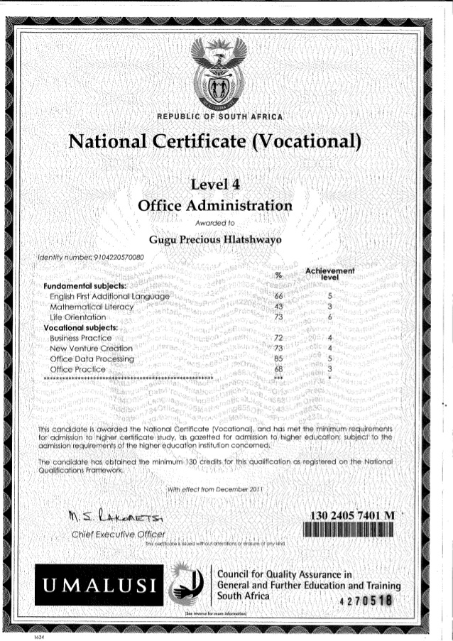 ADMINISTRATION NCV (NQF LEVEL 2, 3 &4)