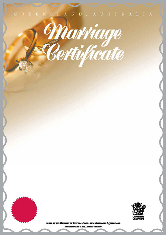 Fill in a marriage certificate application form | Your rights