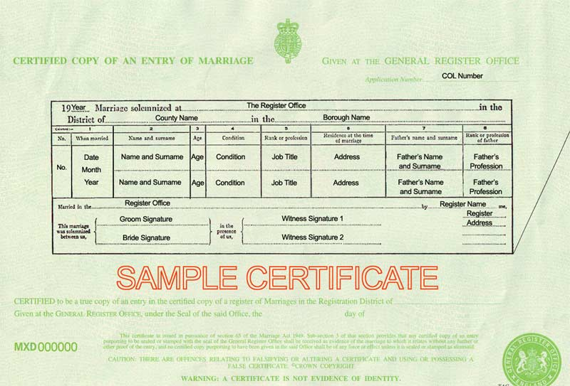 Marriage certificate uk certificates templates free for Commemorative certificate template