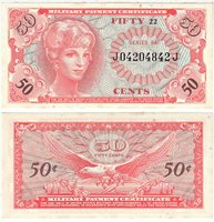 Collectors. Currency Military Payment Certificates Series 641