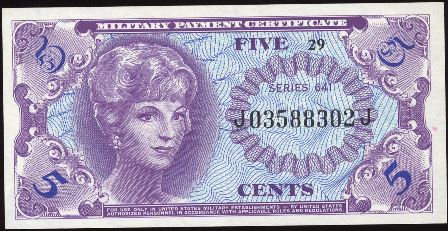 Value of Series 641 5 Cent Military Payment Certificate | Antique