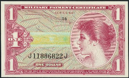 Value of Series 641 $1 Military Payment Certificate | Antique Money