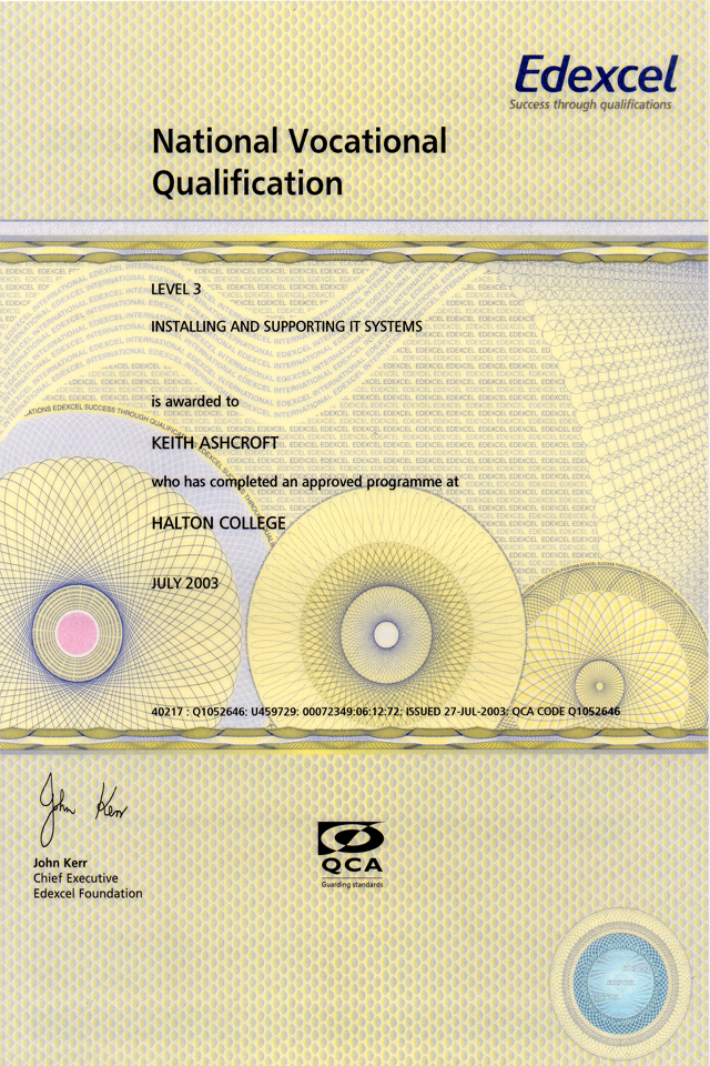 level 3 nvq certificate in