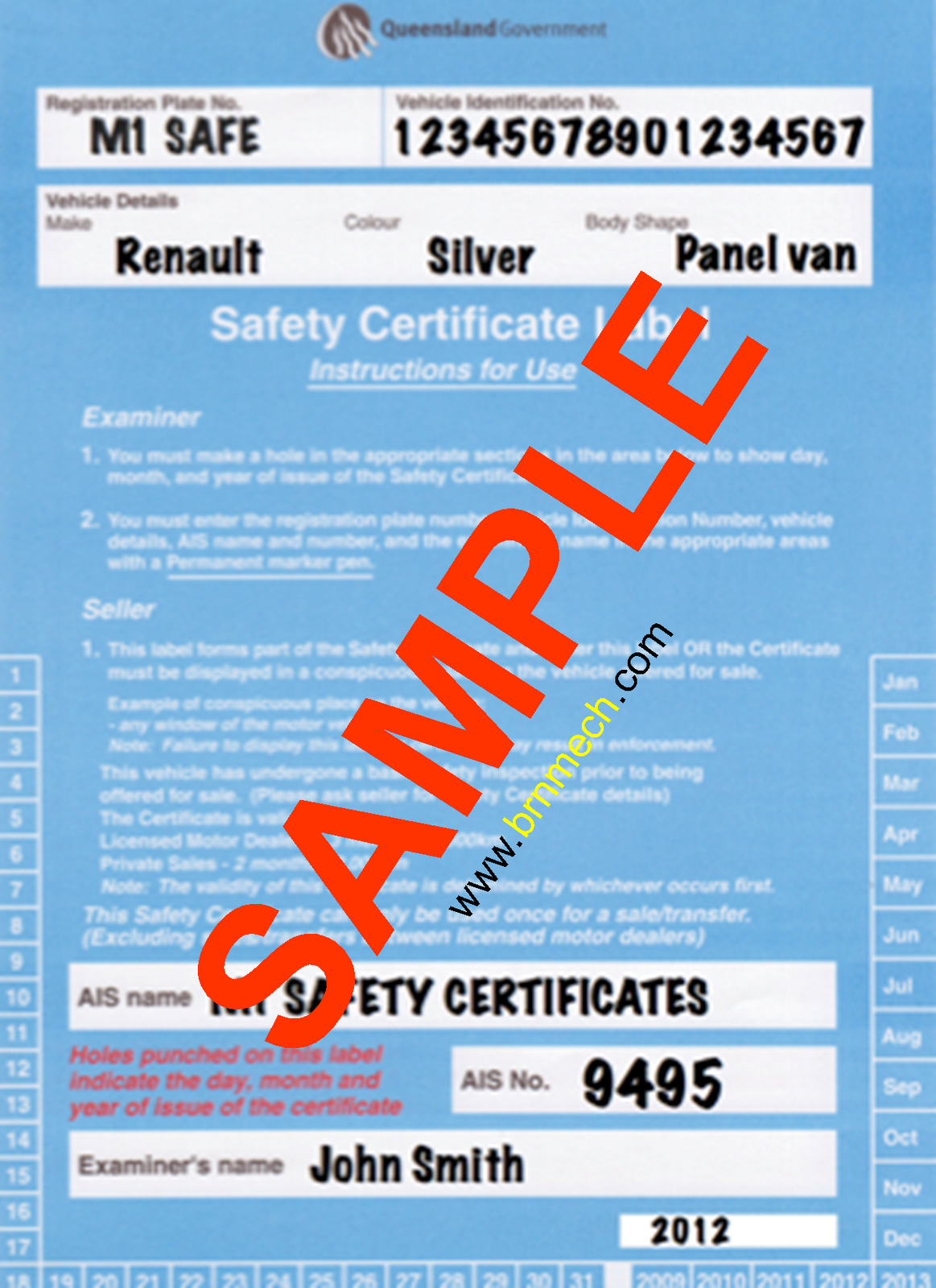 Queensland Safety Certificate (RWC) MotormechMotormech