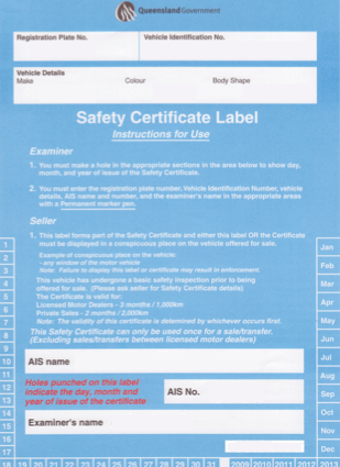 Safety Certificates AV Automotive