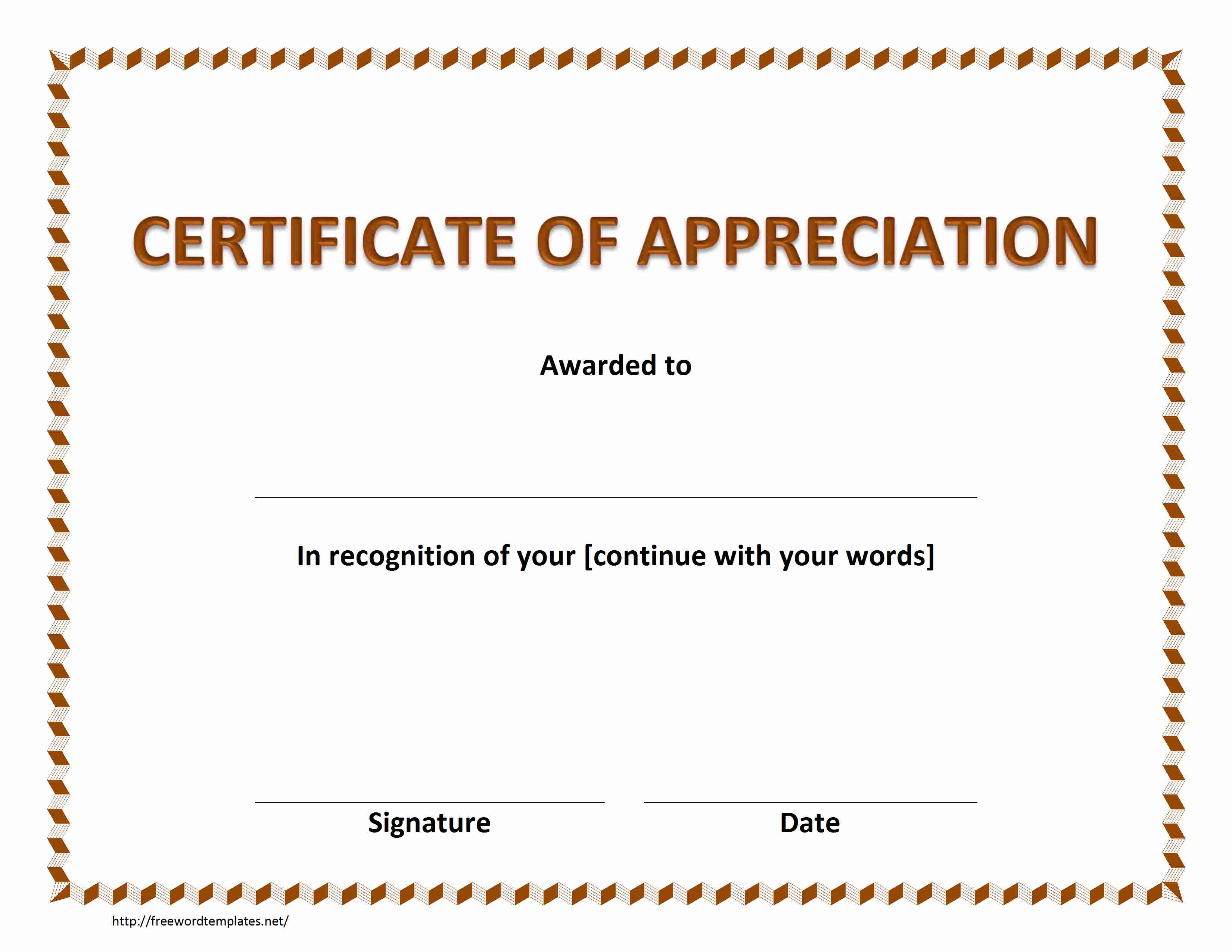 thanks certificate template word certificate template 31 free
