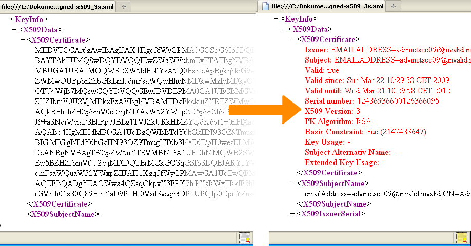 X.509 Public Key Certificates (Windows)