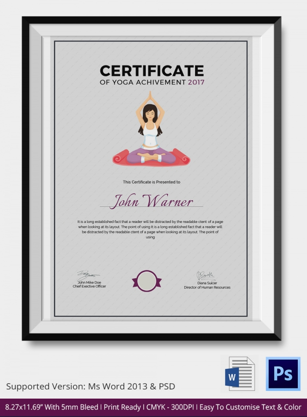 Yoga Certificate Template imts2010.info