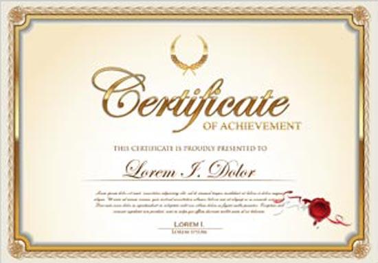 certificate model