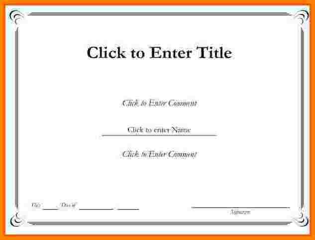 Certificate Template Free Printable
