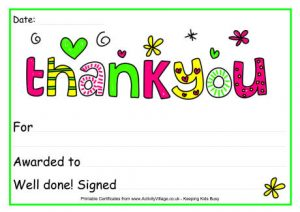 Thank you certificate wording certificates templates free thank you certificate 2017 certificates templates yadclub Image collections